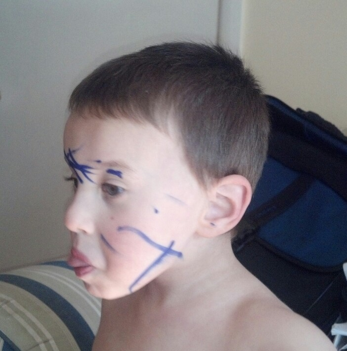 "January, 2013. You used a Sharpie to make yourself ""Spiderman."""